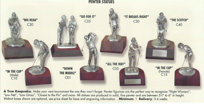 Pewter Statues